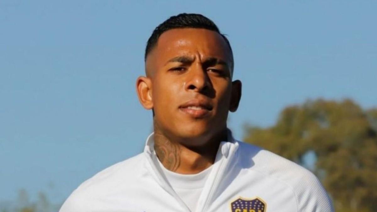 Sebastián Villa volvió a entrenarse en Boca.