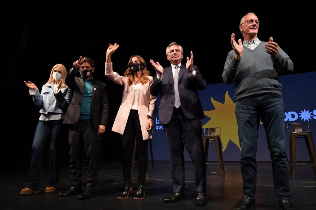 Alberto Fernández encabezó el cierre de campaña del Frente de Todos.