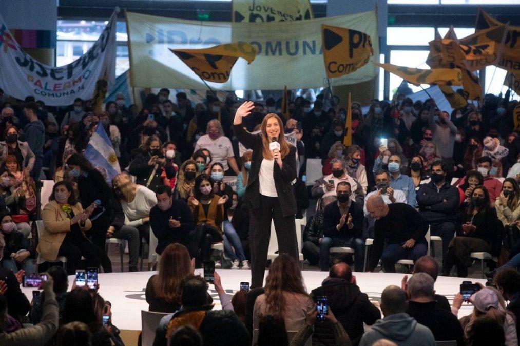 Vidal cerró su campaña con un acto en La Rural de la Ciudad de Buenos Aires.