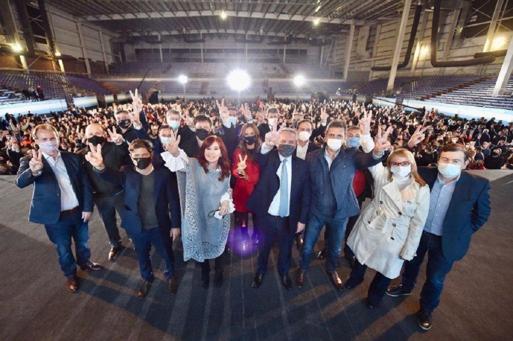 El Frente de Todos cerró la campaña con un acto en Tecnópolis.