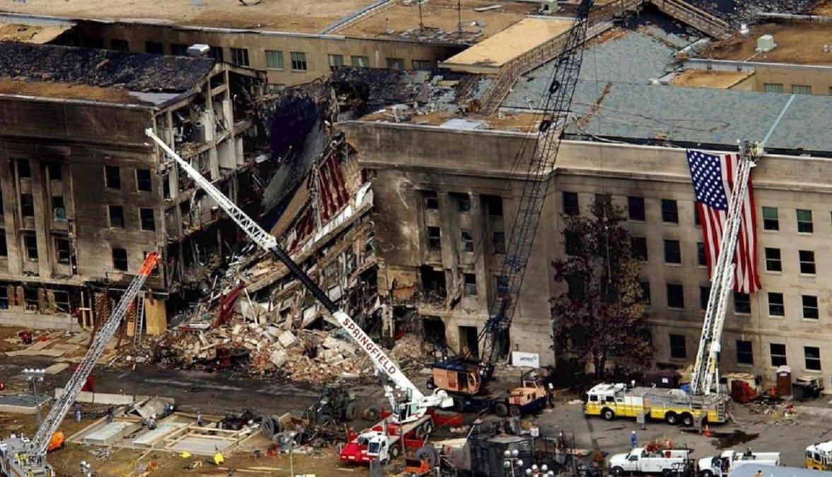 Ataque al Pentágono el 11 de septiembre de 2001.