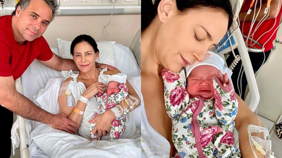 Luciana Aymar junto a su hija Lupe y su pareja Fernando González.