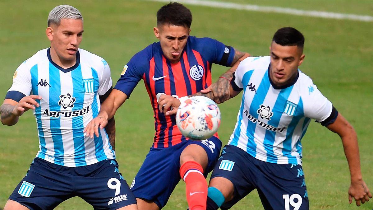 San Lorenzo y Racing juegan el clásico de la jornada en el Nuevo Gasómetro.