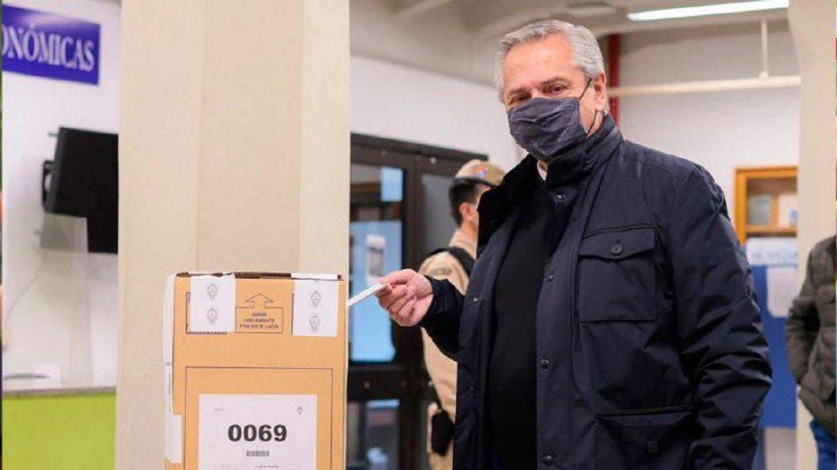 Elecciones 2021: Pidieron que se anule la urna en la que votó Alberto Fernández