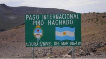 Abrirían los pasos fronterizos Pino Hachado y Samoré