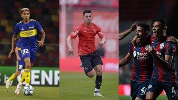 Boca, Independiente y San Lorenzo en la jornada de domingo