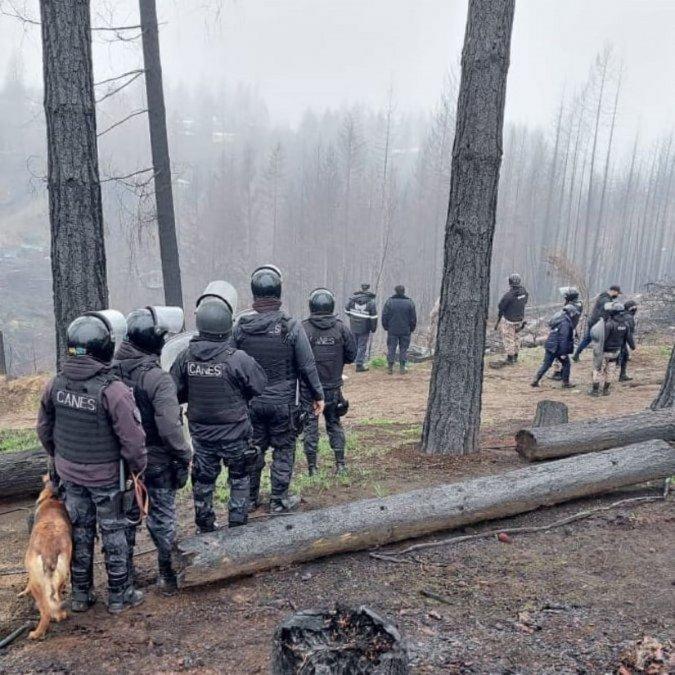 Ocupaciones en Lago Puelo: Vecinos pidieron que se retire la policía pero la justicia se negó. Foto: EQS Notas