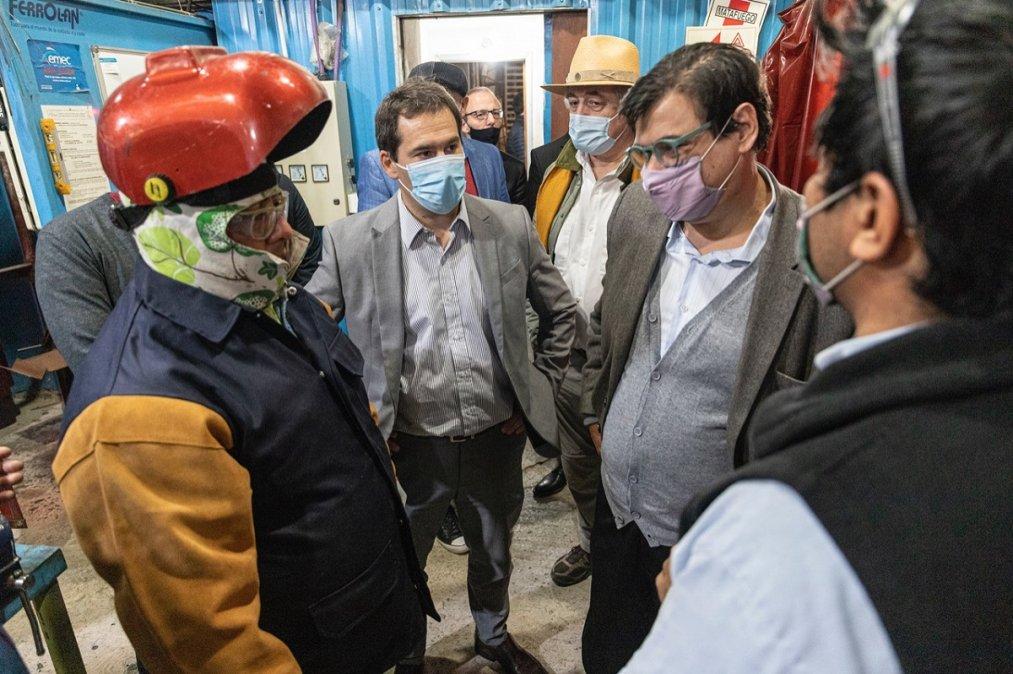 Luque y Moroni destacaron el potencial industrial de Comodoro.