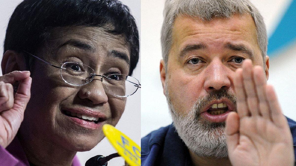 Los periodistasMaria Ressa y Dmitry Muratov se quedaron con el Premio Nobel de la Paz 2021. Foto: Urgente 24.