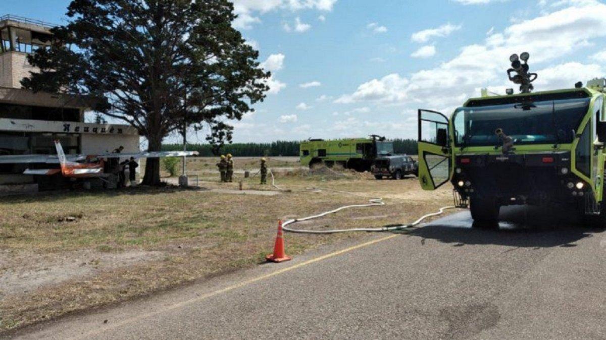 El hecho ocurrió en horas del mediodía y el piloto no sufrió heridas graves aunque fue trasladado al nosocomio local.