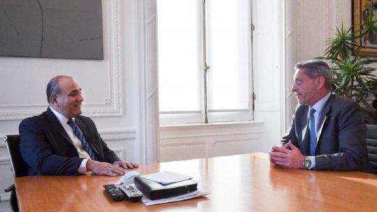 El gobernador Mariano Arcioni se reunió con el jefe de Gabinete Juan Manzur para analizar las obras a incluir en el proyecto de presupuesto 2022.